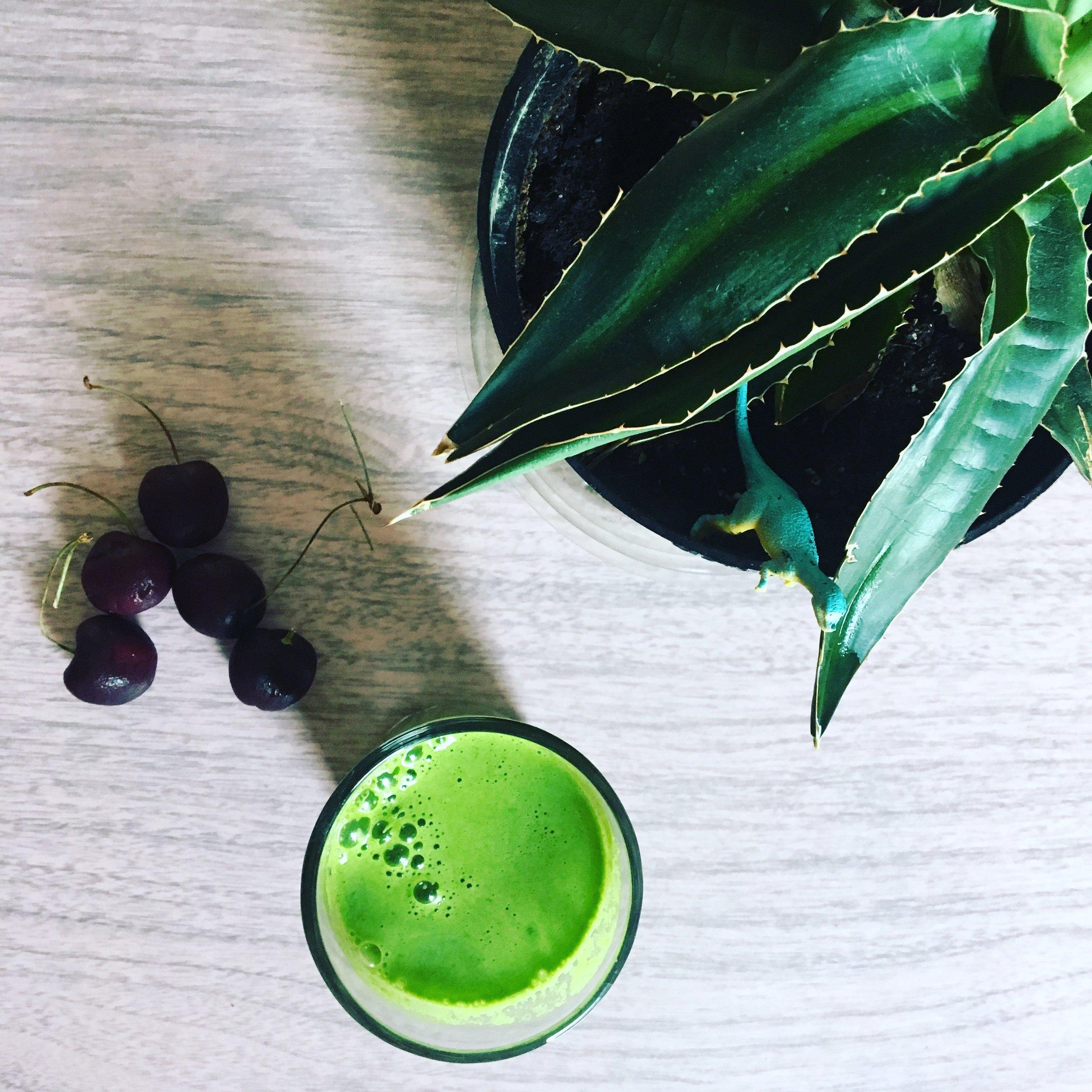 cherries + green juice.png