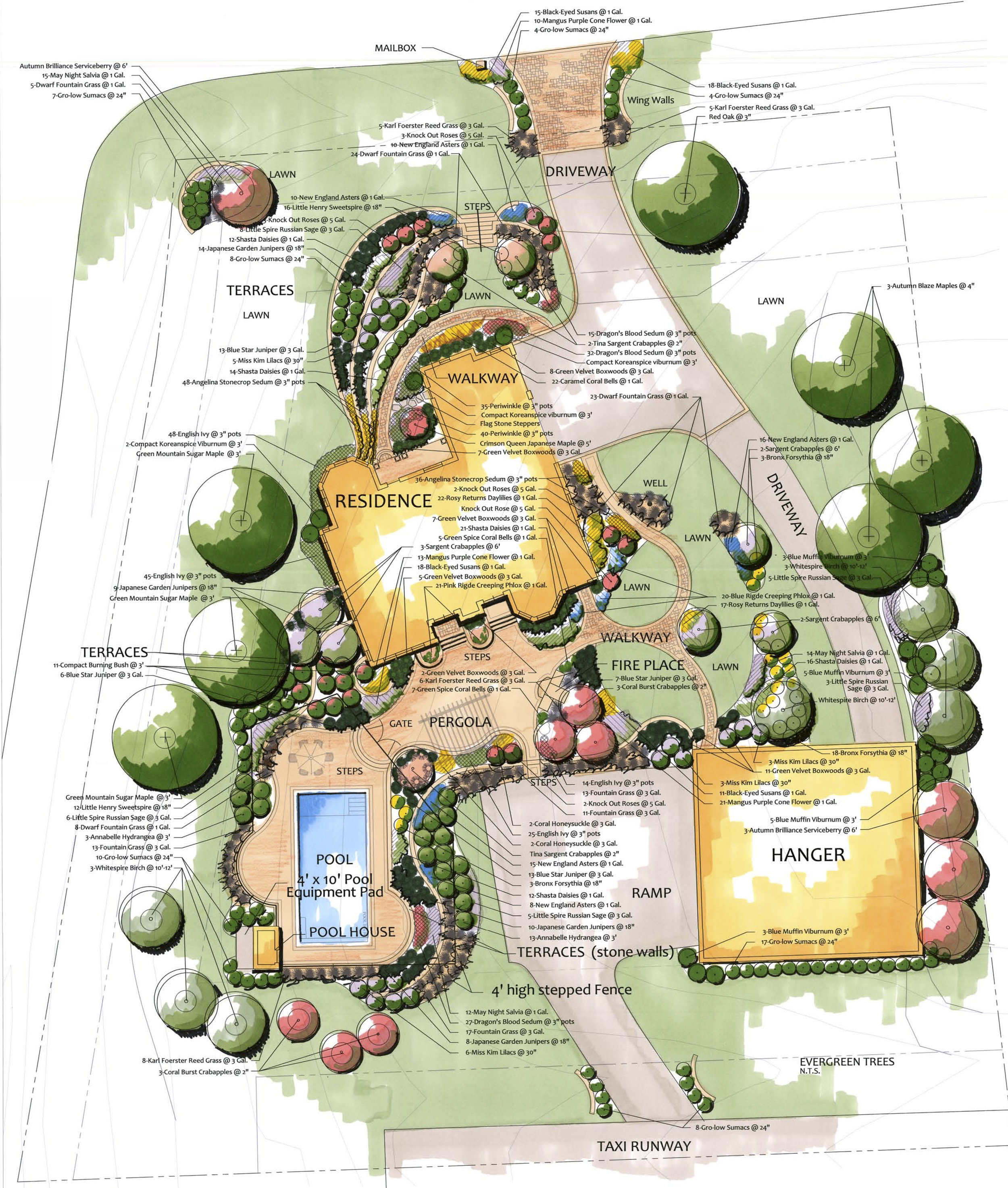An example of a to-scale landscape plan