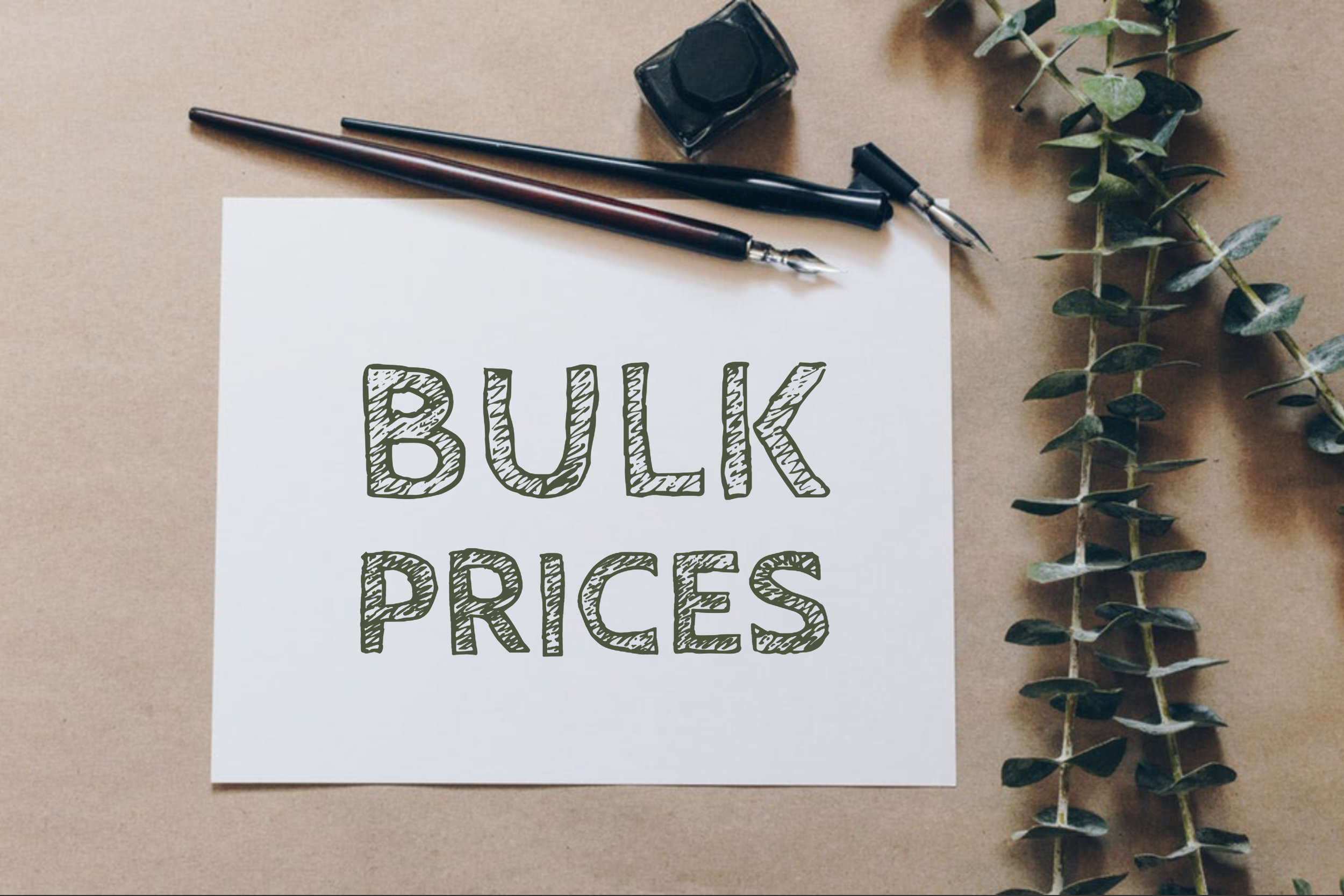 Bulk Prices -