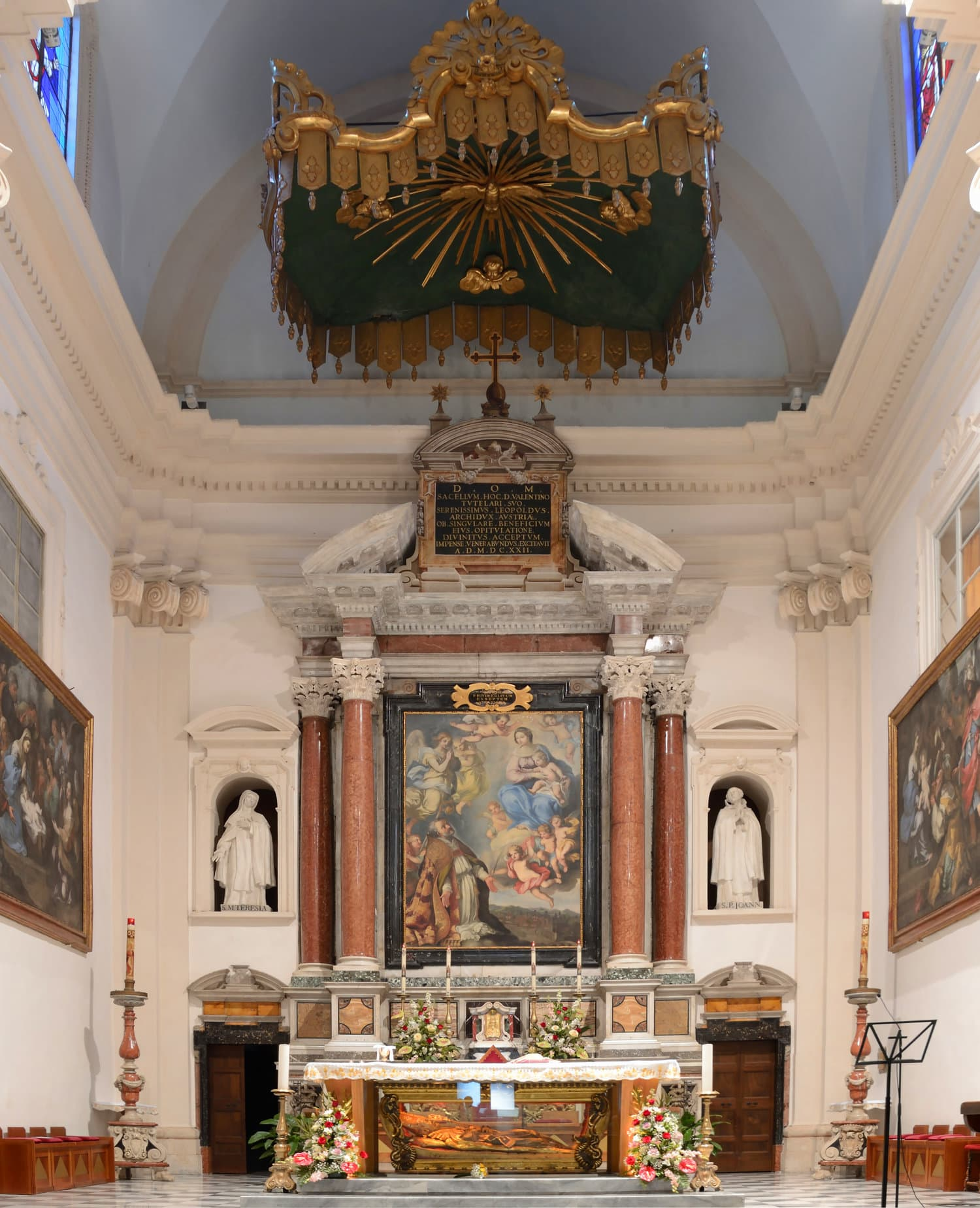 Altar of the Church of St. Valentine in Terni, Italy