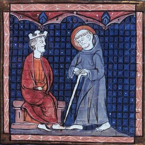 St. Patrick and Irish King, 13th Century. Click to read more.