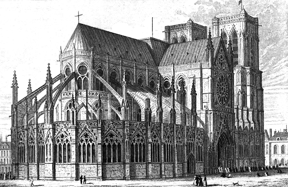 Drawing by Augustus Pugin prior to the 1830 renovations.
