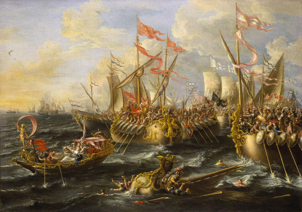 Battle of Actium by Laureys a Castro, 1672.
