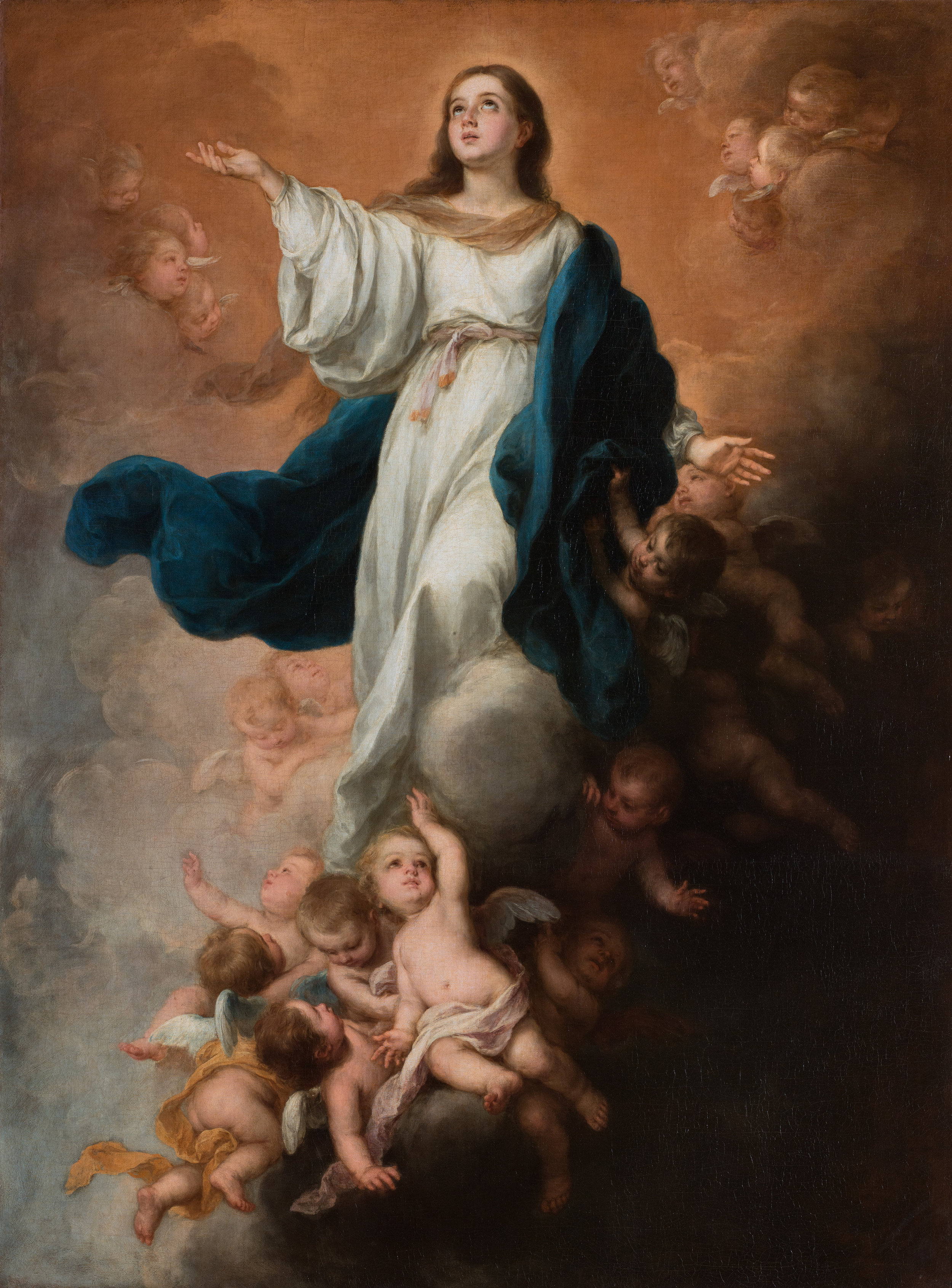 Assumption of the Virgin painted by Bartolome Esteban Murillo, 1670s