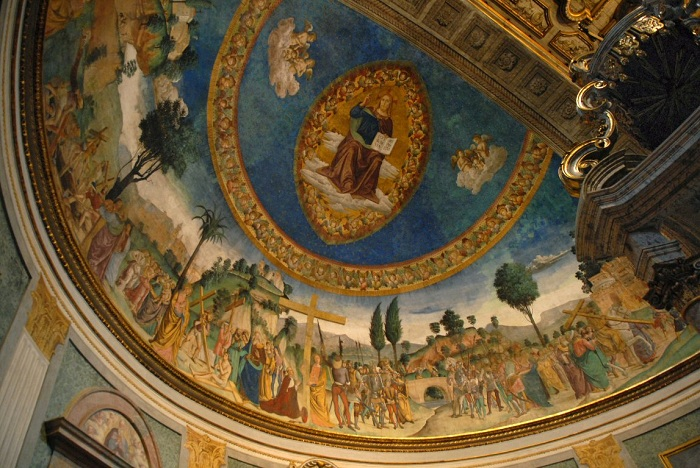 Scenes illustrating the story of Helena's discovery of the True Cross.  S. Croce in Gerusalemme, Rome .