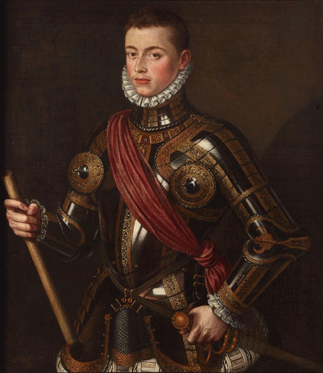 John of Austria in Armour  by Alonso Sánchez Coello, 1567.