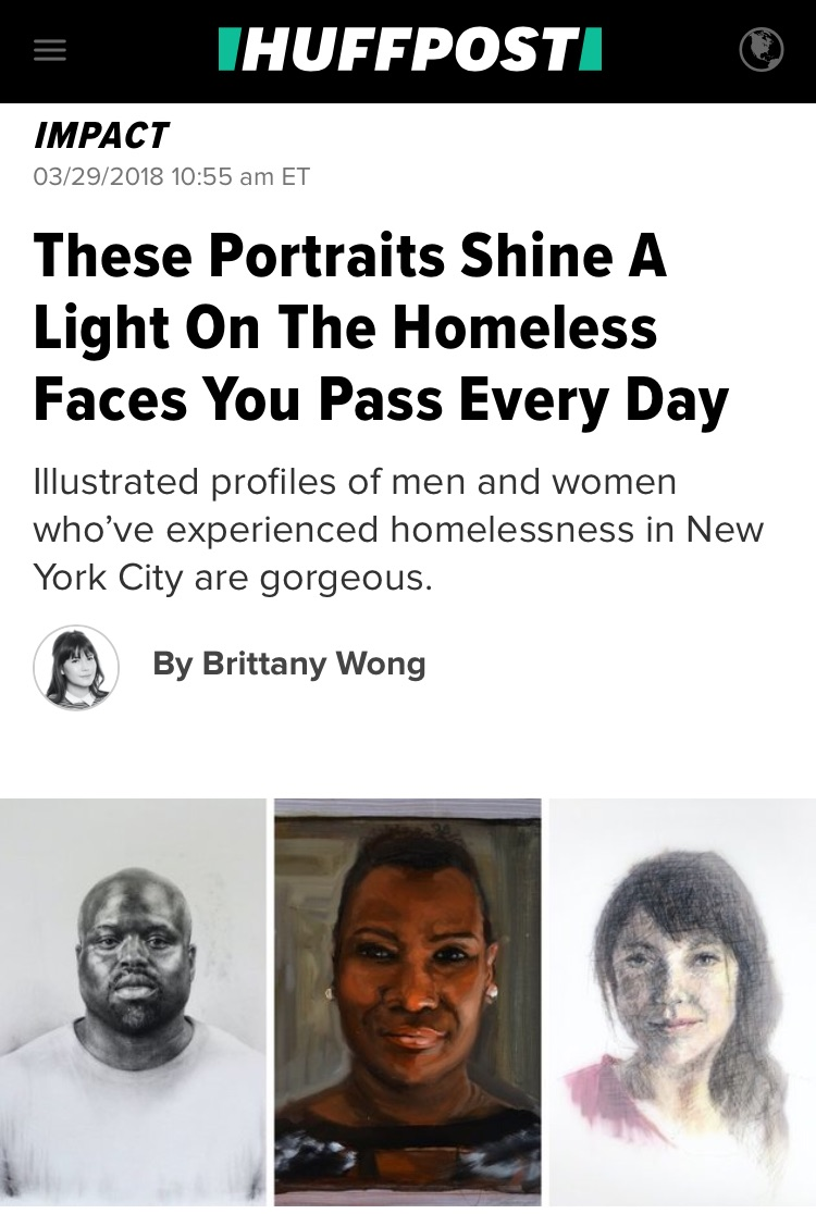 HUFFINGTON POST: These Portraits Shine A Light On The Homeless Faces You Pass By Every Day