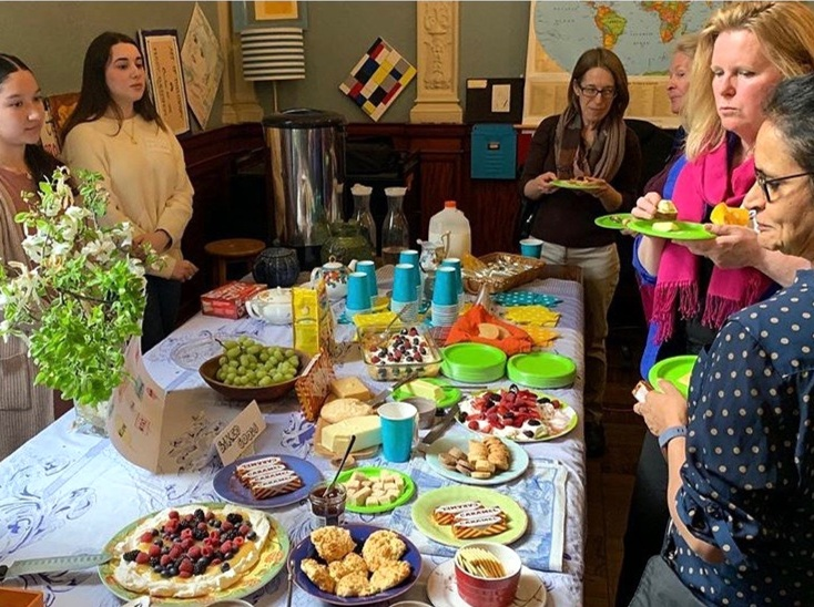 Homemade treats filled the tables in Heidi Eastman's classroom making this a true tea party.