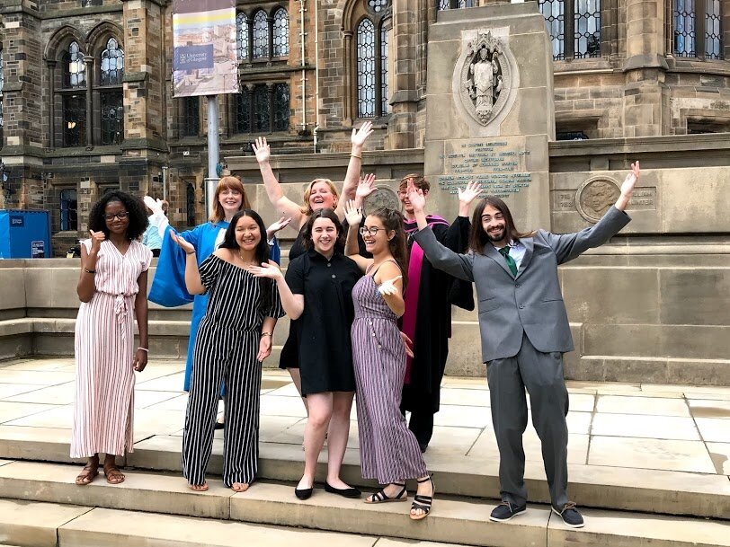 GLCPS students at the University of Glasgow summer program