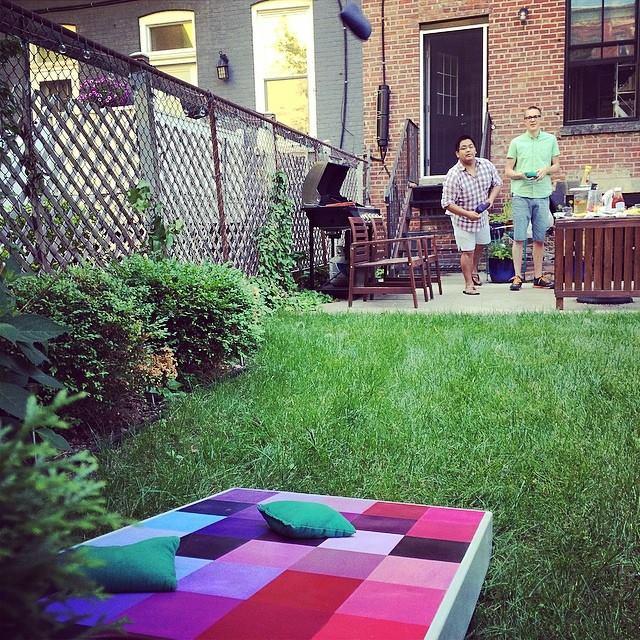Cornhole in the Backyard