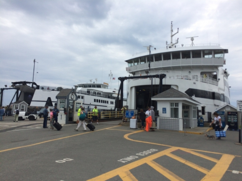 Woods Hole Steamship Authority...If you're there early, head up to Pie-In-the-Sky for delicious beverages, baked goods, and Chowdah!!