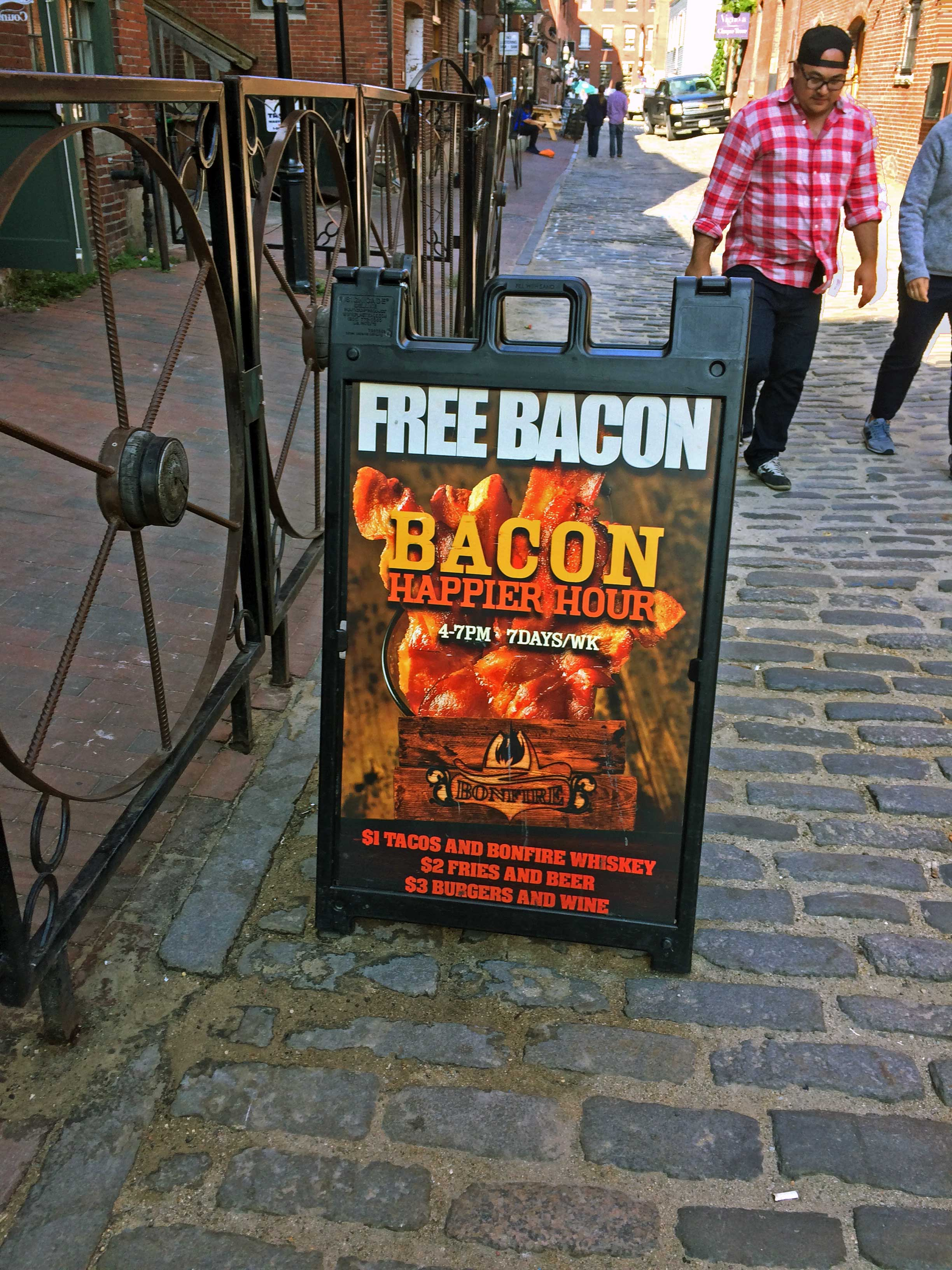 Can't get any happier than a Bacon Happy Hour! - Portland, Maine
