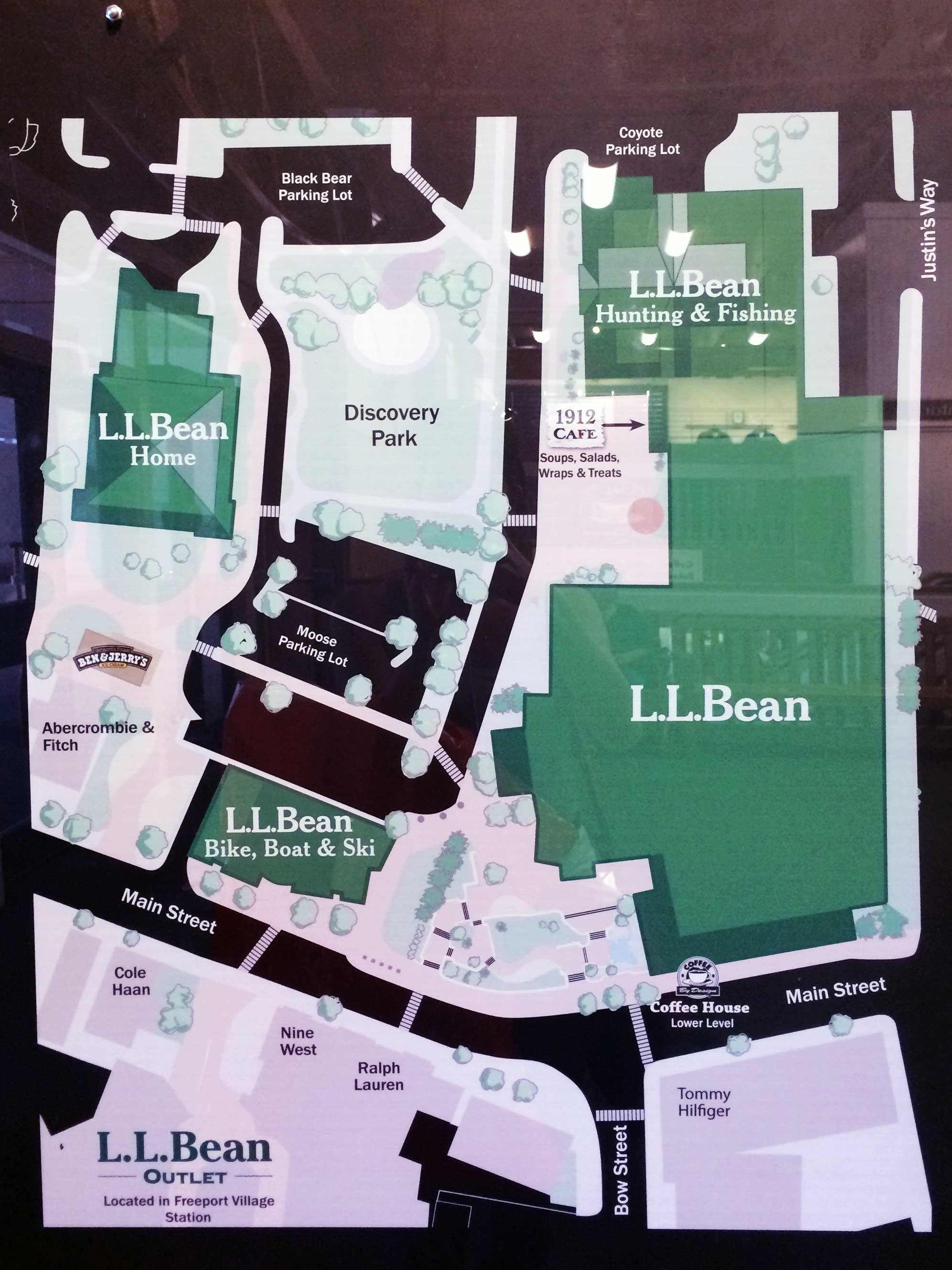 LL Bean Campus...While we were there you could enter a contest to win your own yurt!