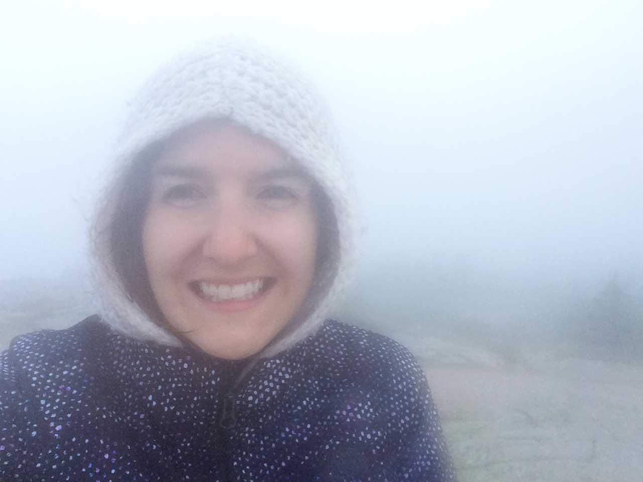 Cadillac Mountain Summit....It was freeeeeezing.