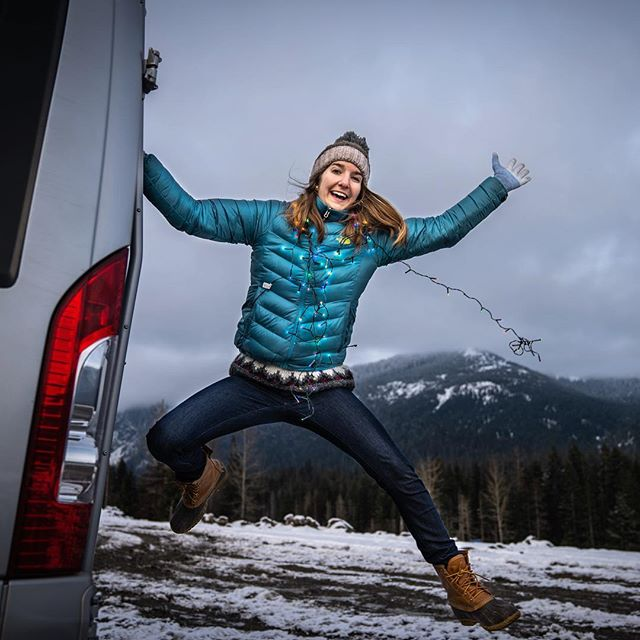 Just doing a little last minute van decorating before the holiday! . We have a ton of battery operated Christmas lights in the van, mini stockings for each of us, and a 2d painted Christmas tree. . What are your favorite Christmas decorations? . . . . #gunnsdowashington #gunnsdoamerica #seattle #snoqualmie #snoqualmiepass #washington #winter #snow #christmas #decor #decorations #lights #christmaslights #holiday #festive #vanlife #van #rvlife #winnebago #travato #rv #jump #picoftheday #photooftheday #mountain #nomads #weekend #weekendwarriors