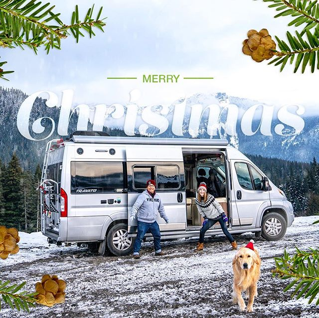 """🎄 I T ' S  C H R I S T M A S !🎄 Someone once told me she felt bad for us that we couldn't be home for Christmas....and I said """"What are you talking about?  Everything I need is right here, just my best friend, my dog, and my van!"""" . . . . #gunnsdoamerica #gunnsdowashington #merrychristmas #christmas #christmasday #vanlife #rvlife #nomads #weekendwarriors #snow #van #winnebago #travato #dodge #promaster #goldenretriever #dog #ilovemydog #santapaws #snoqualmie #washington #picoftheday #photooftheday #travel #roadtrip #family"""