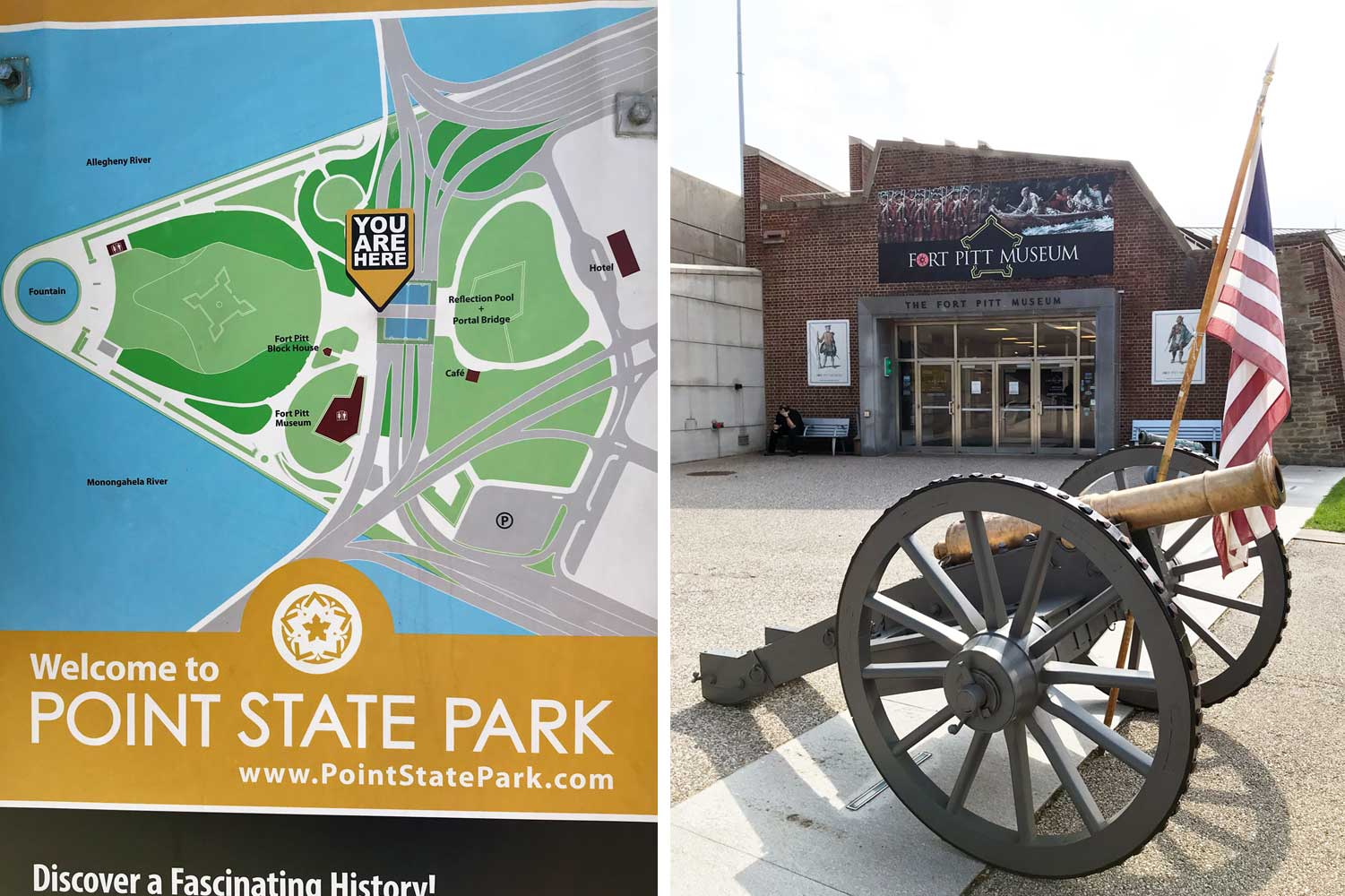 Point State Park and Fort Pitt Museum, both are free!