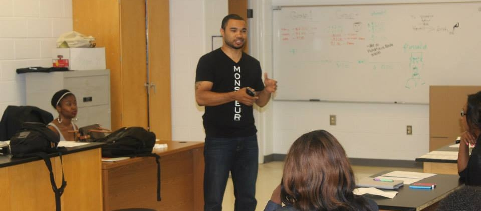 INSPIRING young ENTREPRENEURS - Next In Line Entrepreneur speaker at DREW High School