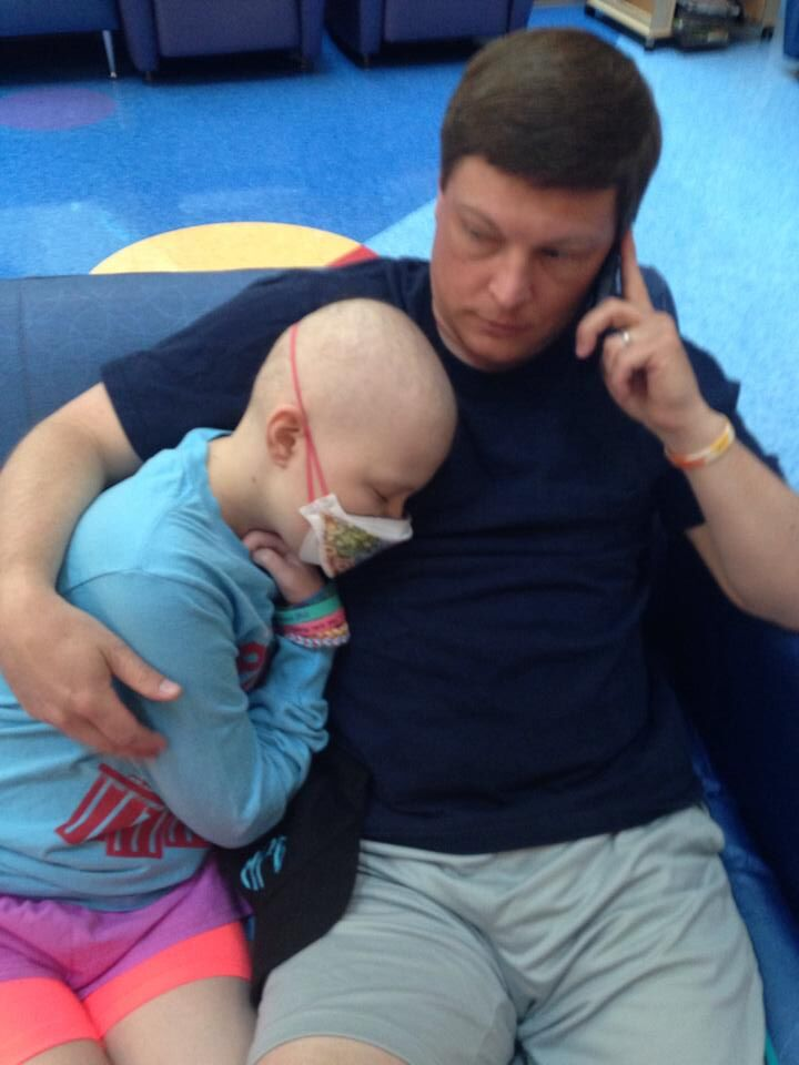 Pediatric aml patient mary elizabeth and her dad