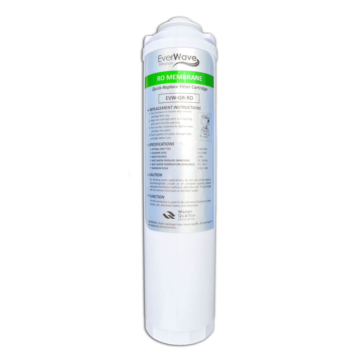 RO Filter - This reverse osmosis filter removes everything the UF filter catches and then some from your water. It is able to capture dissolved mineral particles with ease!