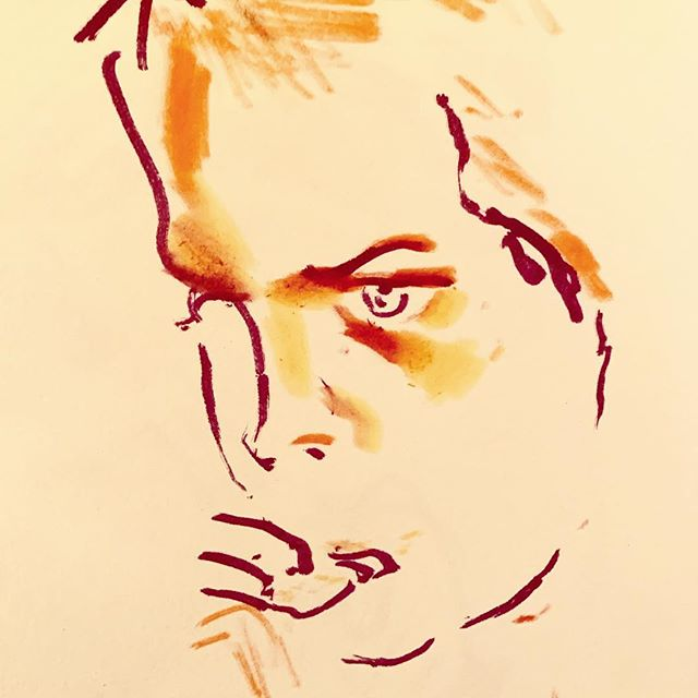 Nephew, concentrating on a biscuit.  #drawing #sketchbook #portrait #sketching #sketch #sketches #lifedrawing #portrait