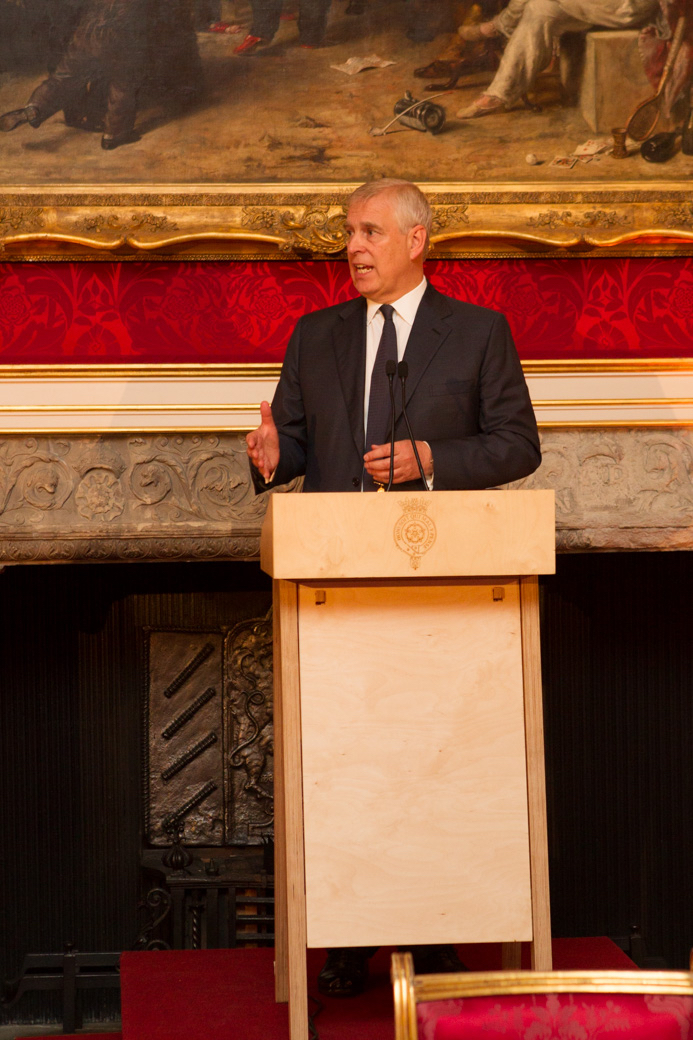 HRH The Duke of York speaks at 'Men As Change Agents' (MACA) event at St James's Palace, London, September 6, 2018.