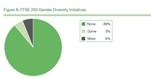 FTSE250 Gender Diversity Initiatives Figure 8, p25 of  Board Diversity Reporting in 2018 by Exeter Business School for the FRC. Source: FRC, London, September 17 2018.
