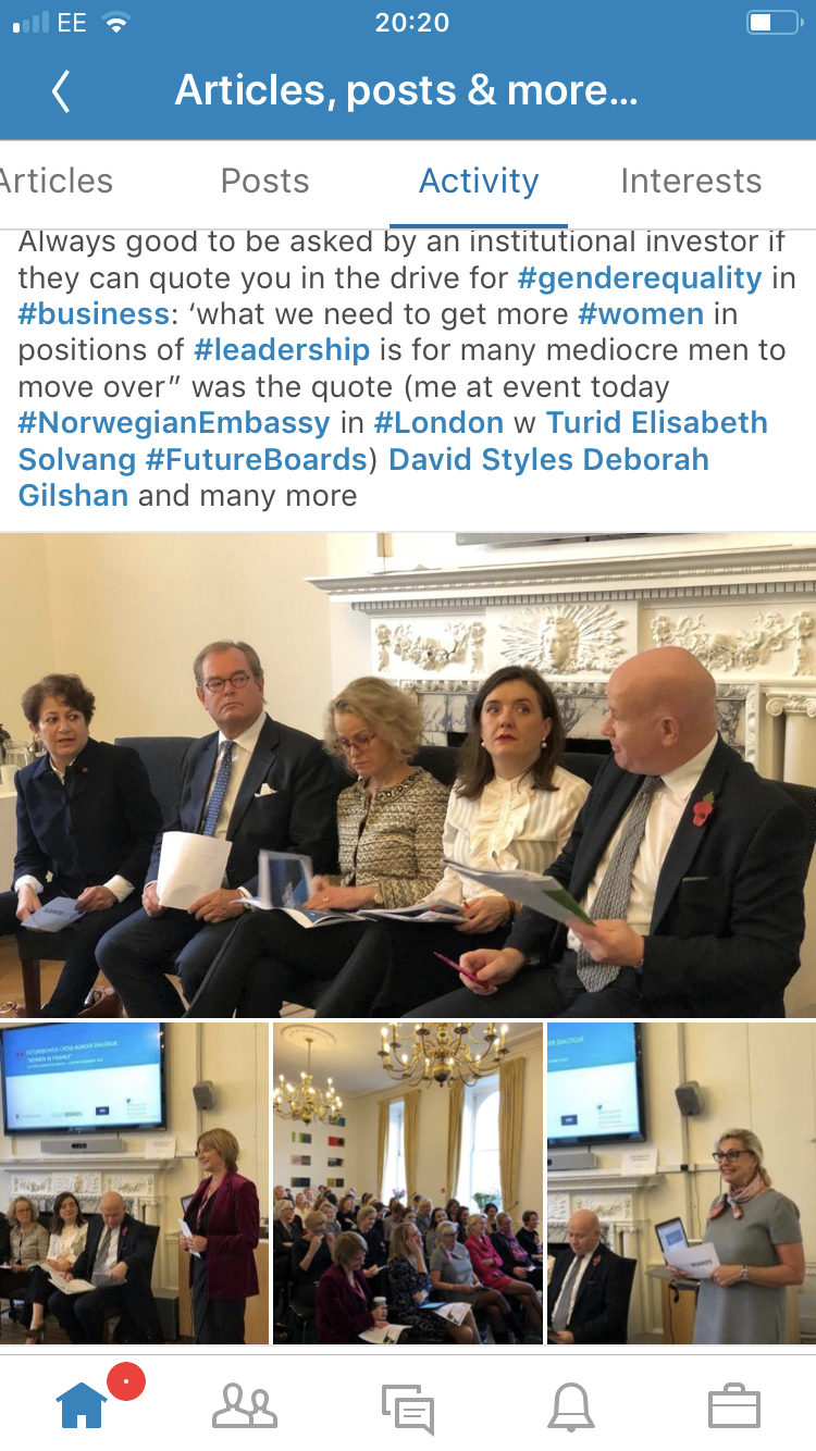 Source for pics: Royal Norwegian Embassy in UK, London. November 9, 2018. Event with #TuridSolvang and #FutureBoards (with whom I sometimes work) held under privacy consideration Chatham House rules on comments , but ones quoted here are mine alone.