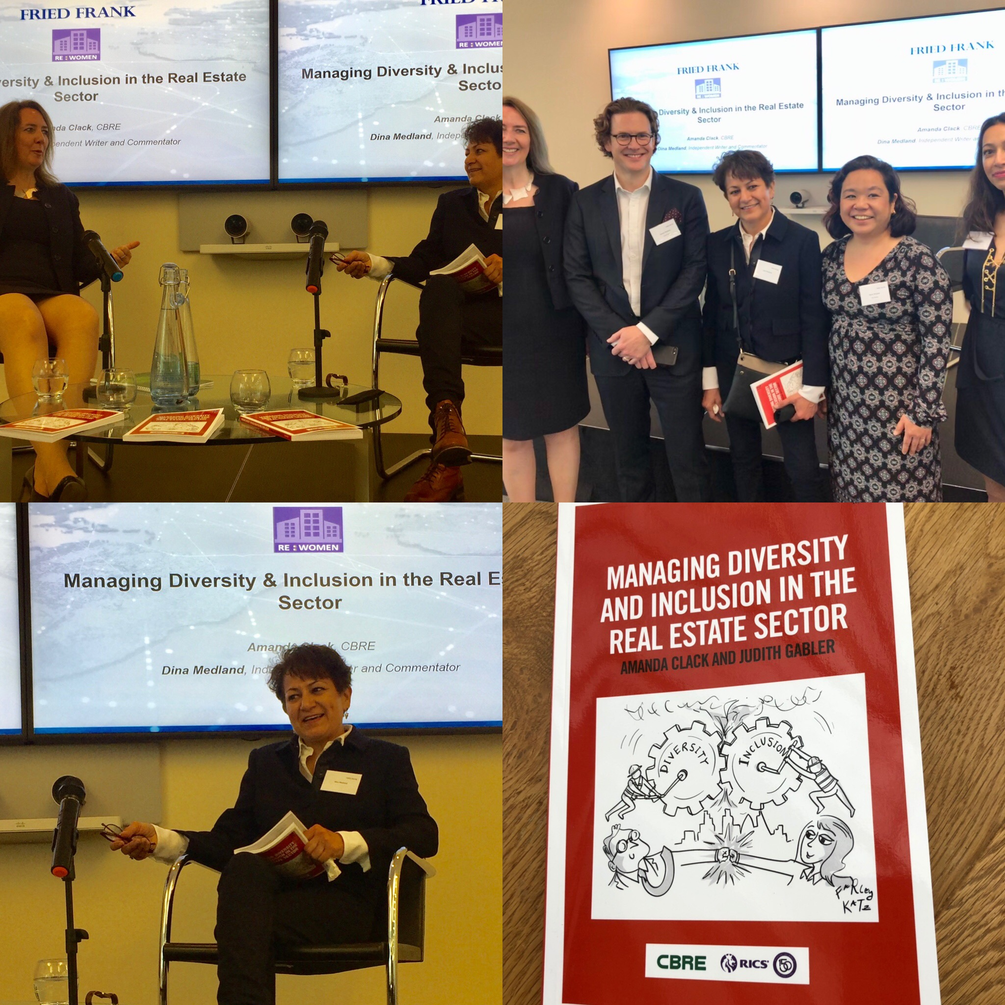 Diversity And Inclusion In Real Estate with CBRE UK - Event at Fried Frank, London June 12, 2019 to discuss a new book by Amanda Clack and Judith Gabler. Arranged by Real Estate Women. See Board Talk for post.