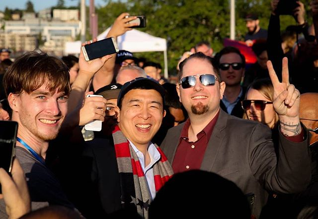 Had a great time at gasworks park yesterday with the @andrewyang2020 campaign.  Great pictures by @fgq_photography