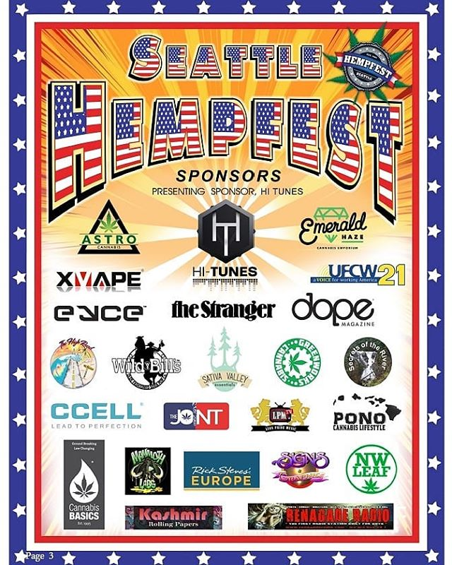 Proud presenting sponsors of @theseattlehempfest