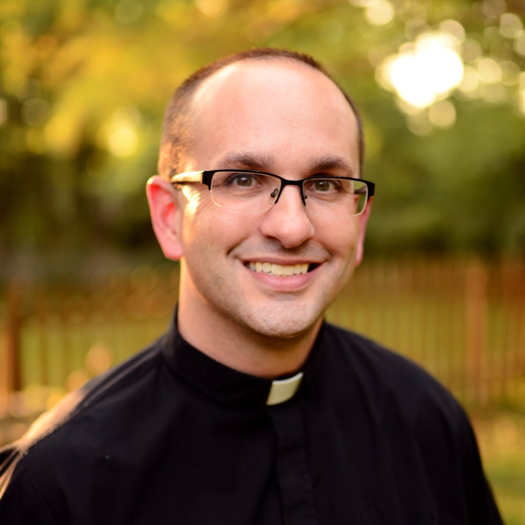 Fr. Dan Morris | Vocations Director  frdan@kucatholic.org  Fr. Dan was born in Topeka, KS. His favorite place to relax is defined by it being a place that nobody else knows where he is. First car, Nissan Sentra. Favorite saint is St. John the Beloved.