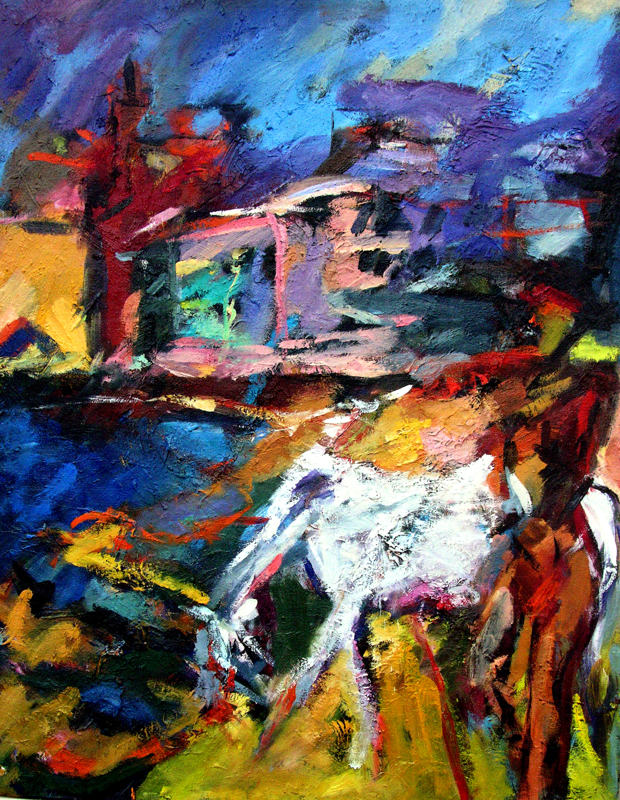ronan -walsh- woman with white-horse,oil on canvas-36x47ins-2004 -$16,400,00alt text,fine-art-oil painting-waterront..jpg