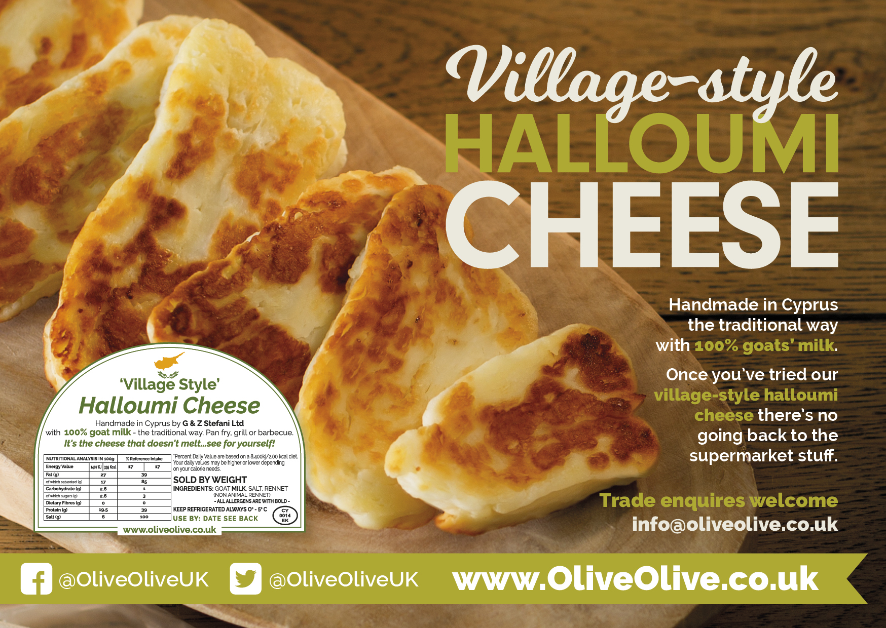 Halloumi Cheese side of Flyer