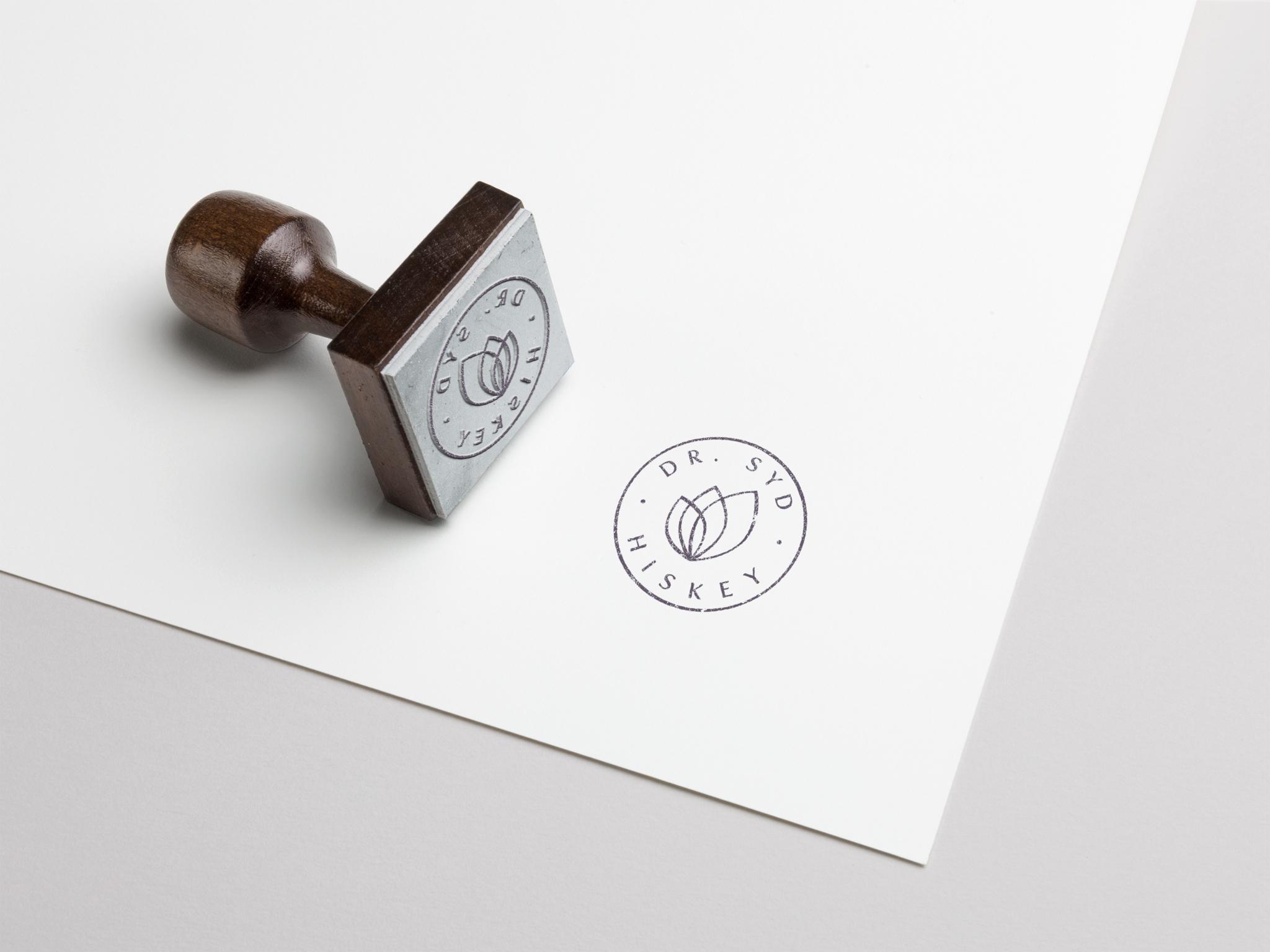 Logo Design for Dr Syd Hiskey on Rubber Stamp.