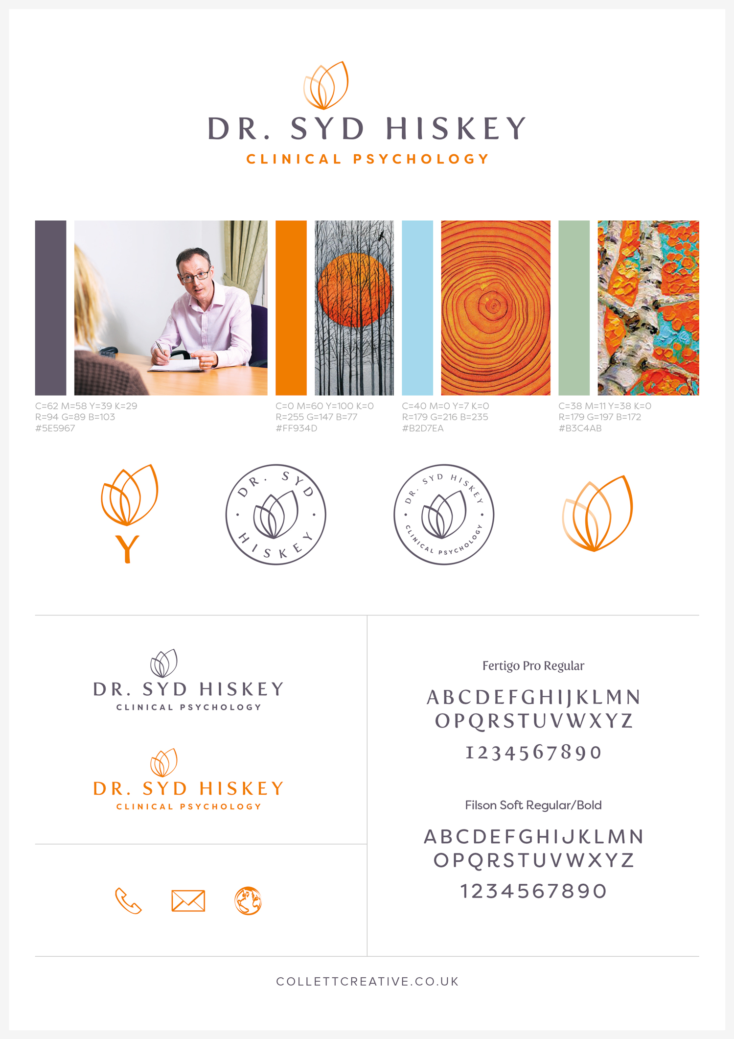 Brand Board for Dr. Syd Hiskey (Positive)