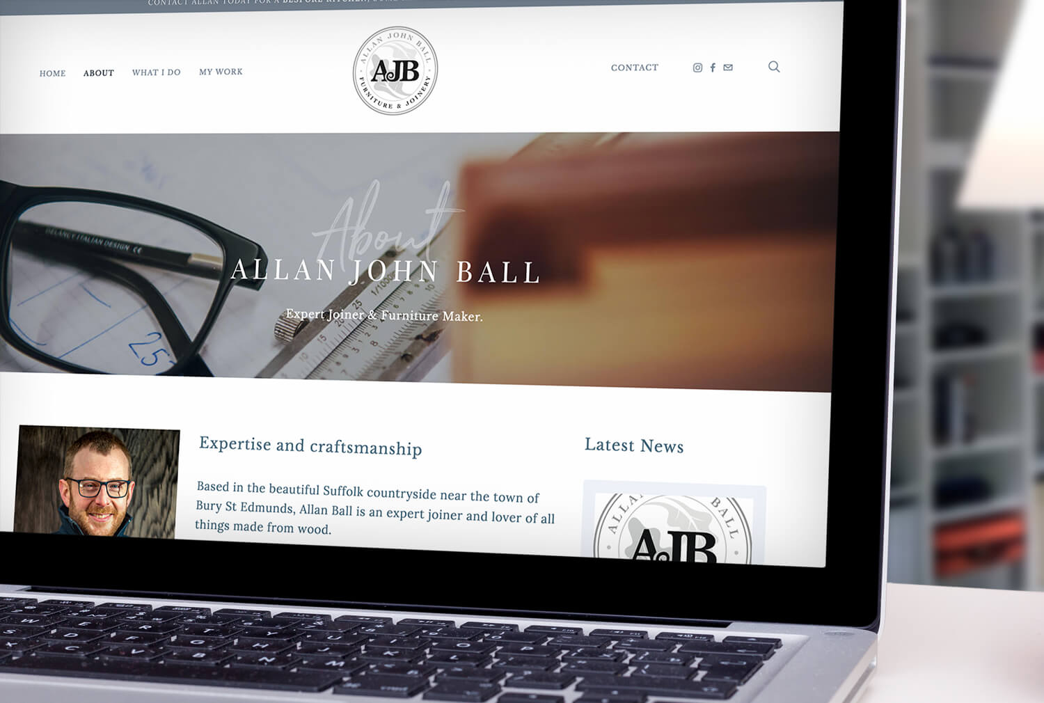 AJB Joinery Website Design About Page