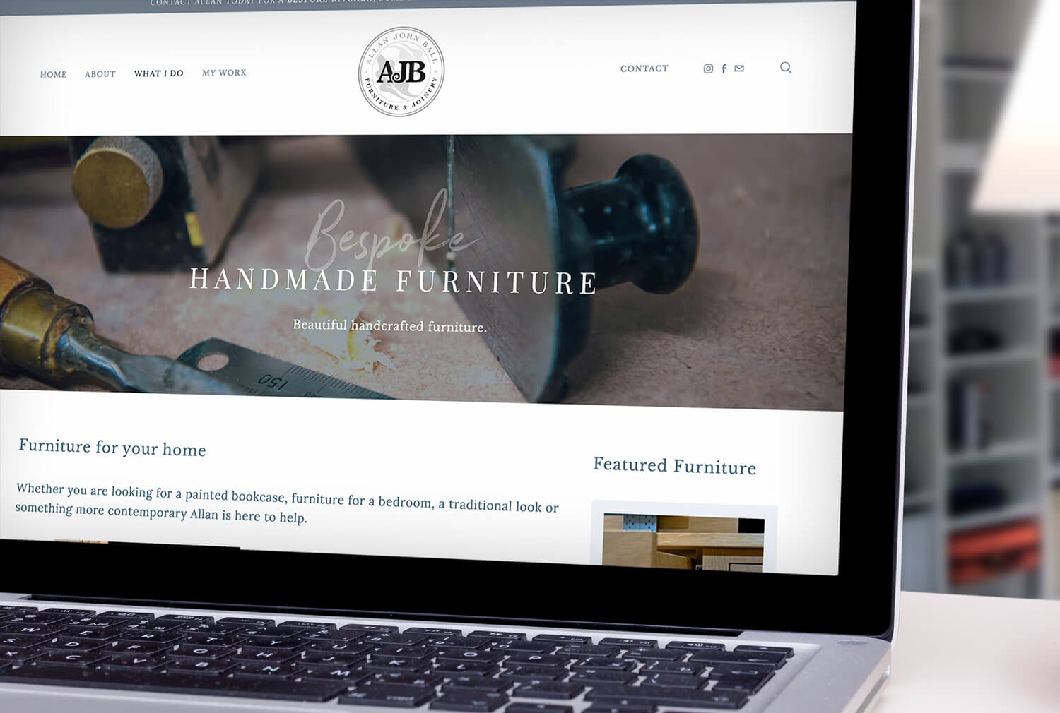 AJB Joinery Website Design Furniture Page