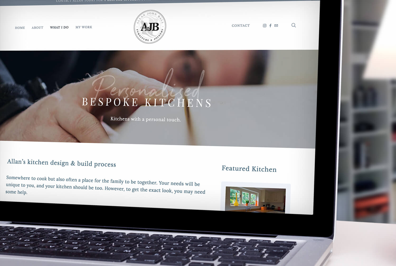 AJB Joinery Website Design Kitchen Page