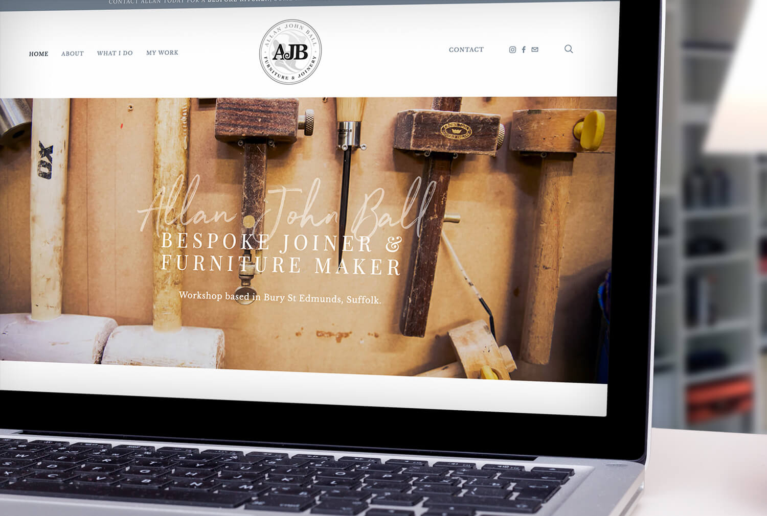 AJB Joinery Website Design Home Page