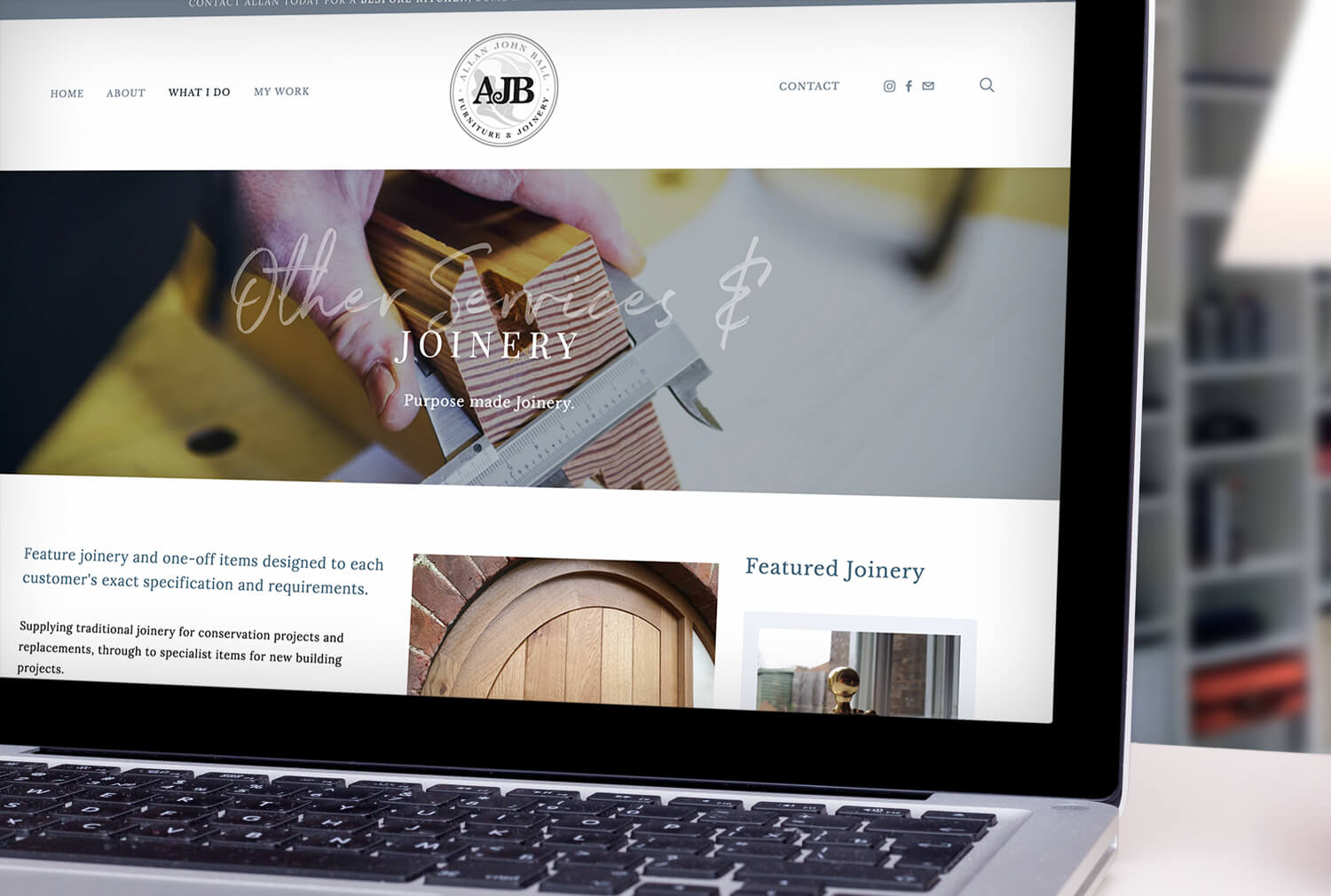 AJB Joinery Website Design Joinery Page