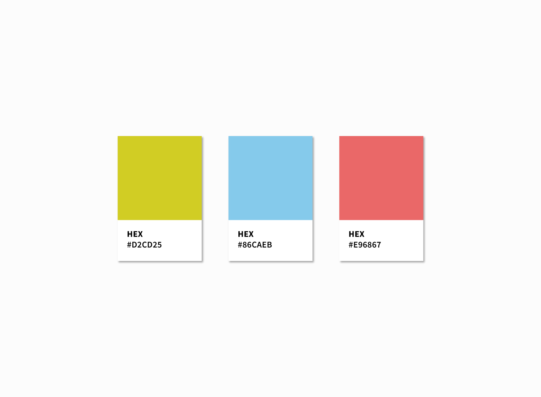 Colour swatches for Twinn Accountants.