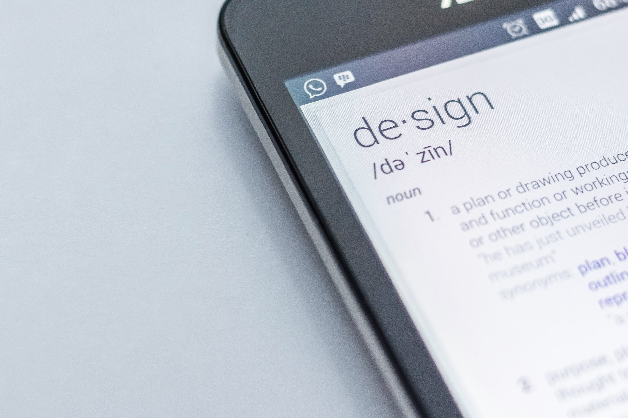 Image showing the definition of design on a smart phone.