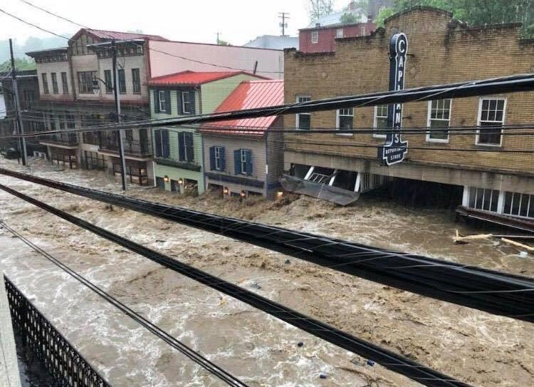 Ellicott City flash flood 2018 via Just In Weather