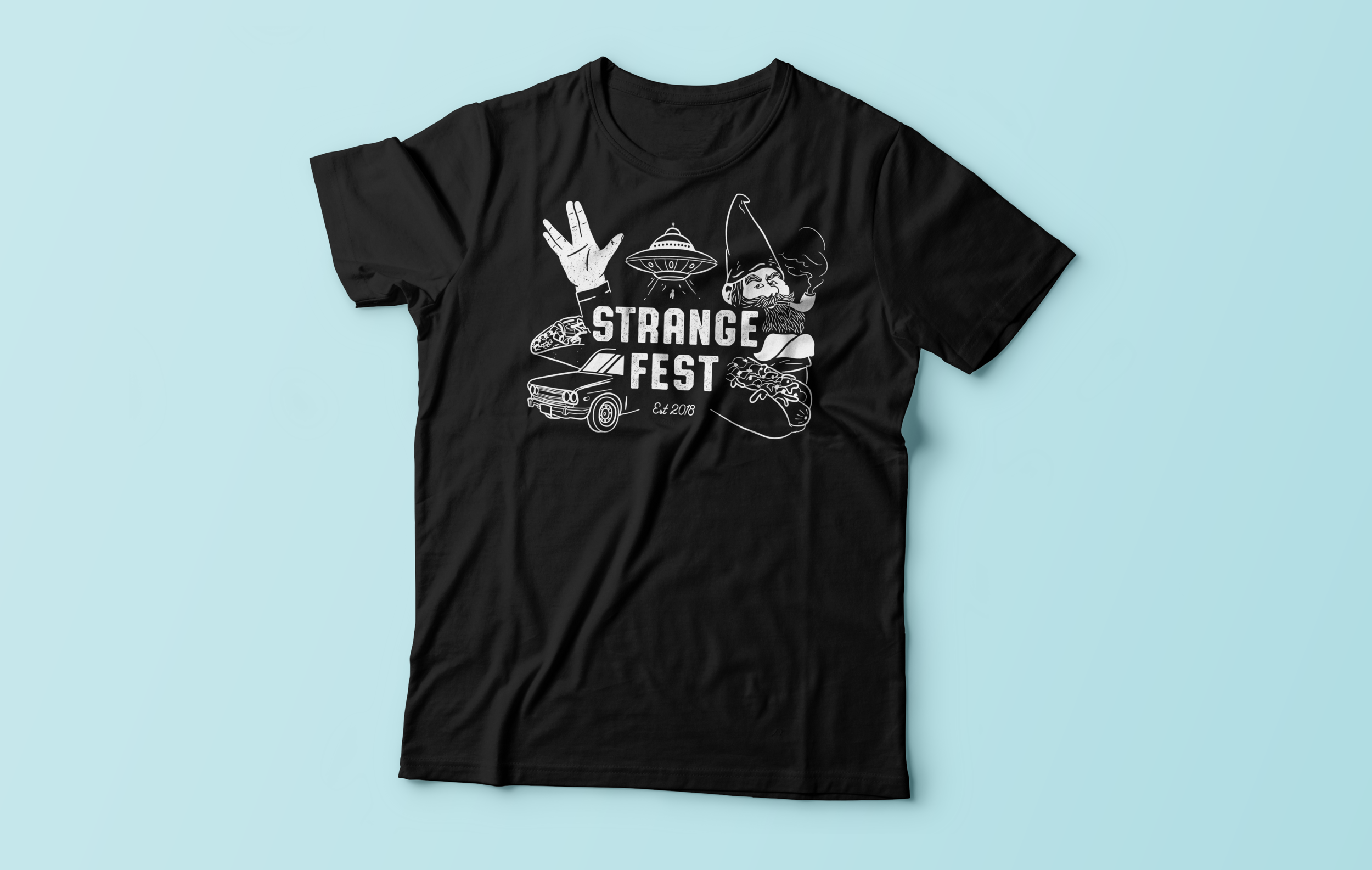 StrangeFest T-Shirts - You can now pre-order a StrangeFest shirt. All proceeds will be going to The WARM Place, a nonprofit 501(c)(3) agency that provides peer-support groups for children and their families after the death of a loved one.