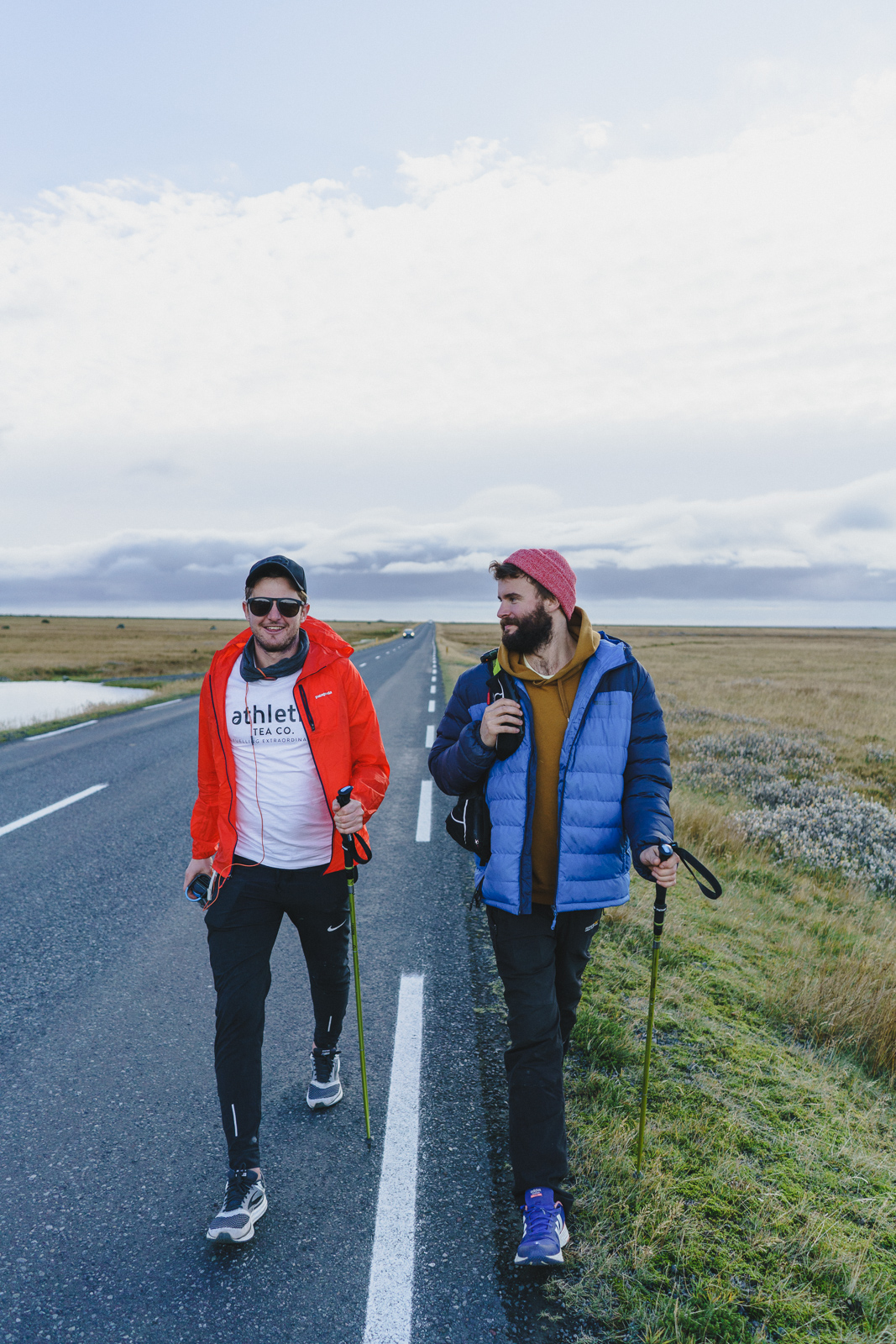 Powering through Iceland with my support team and oldest friend, Jason.