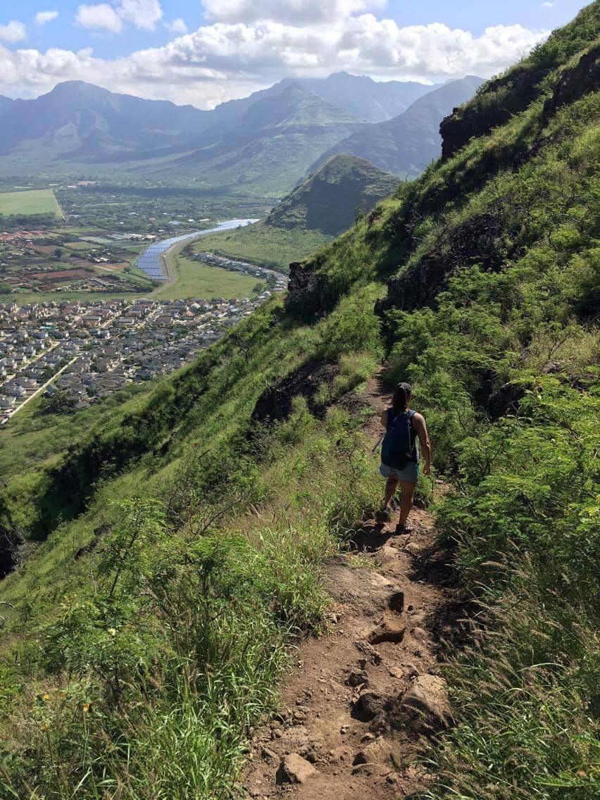 Trail running Oahu