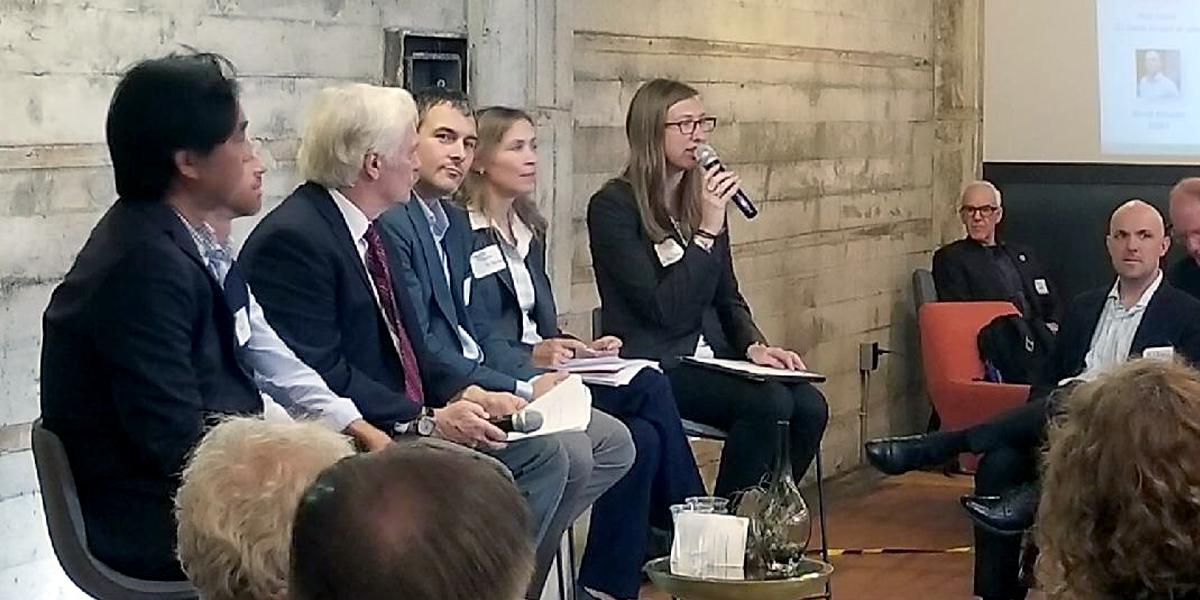 Lila Holzman, energy program manager at  As You Sow , moderated the Transition Planning in the Face of an Attack on CAFE Standards panel at an affiliate event of the Global Climate Action Summit.
