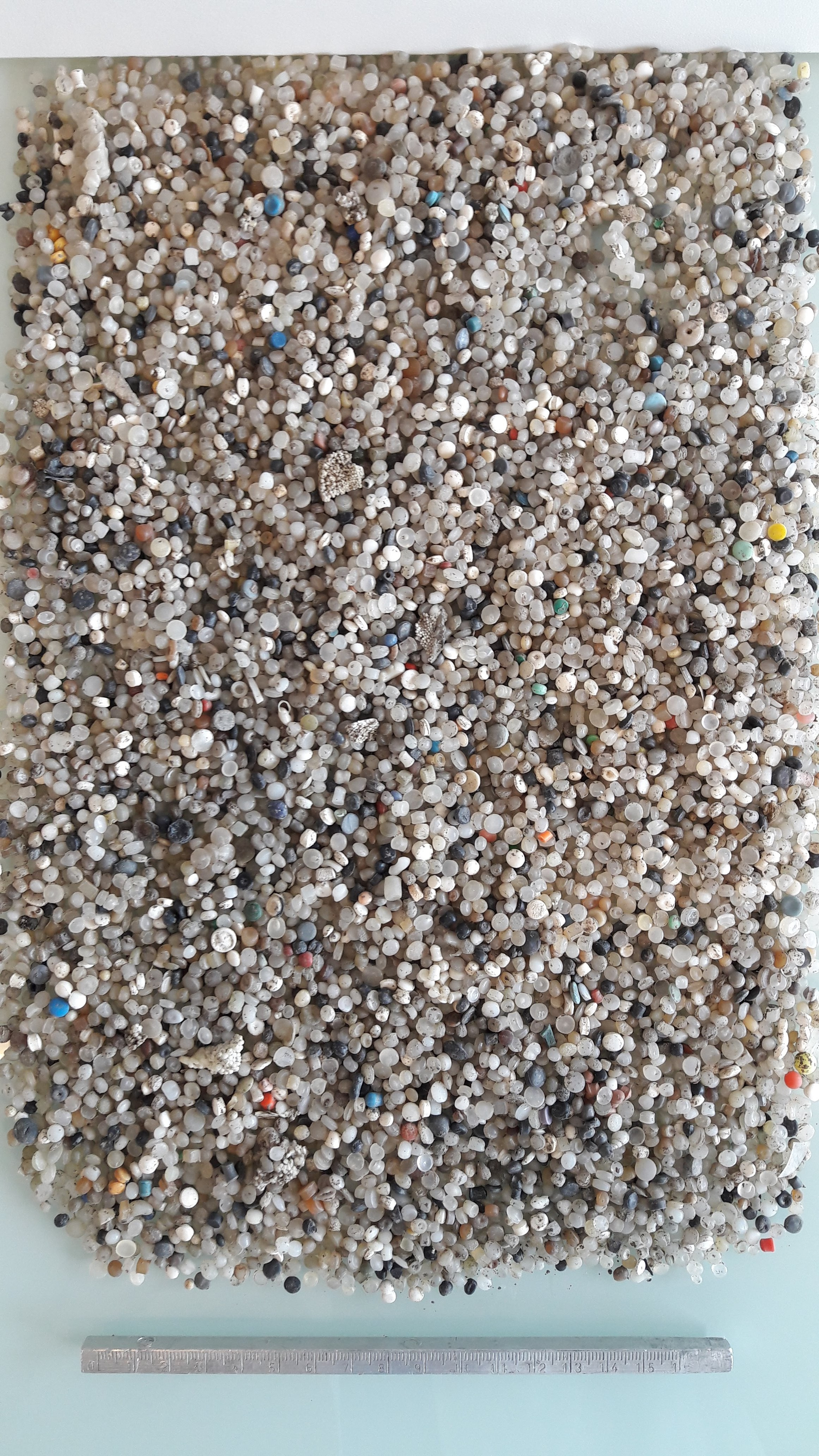 Plastic pellet pollution -