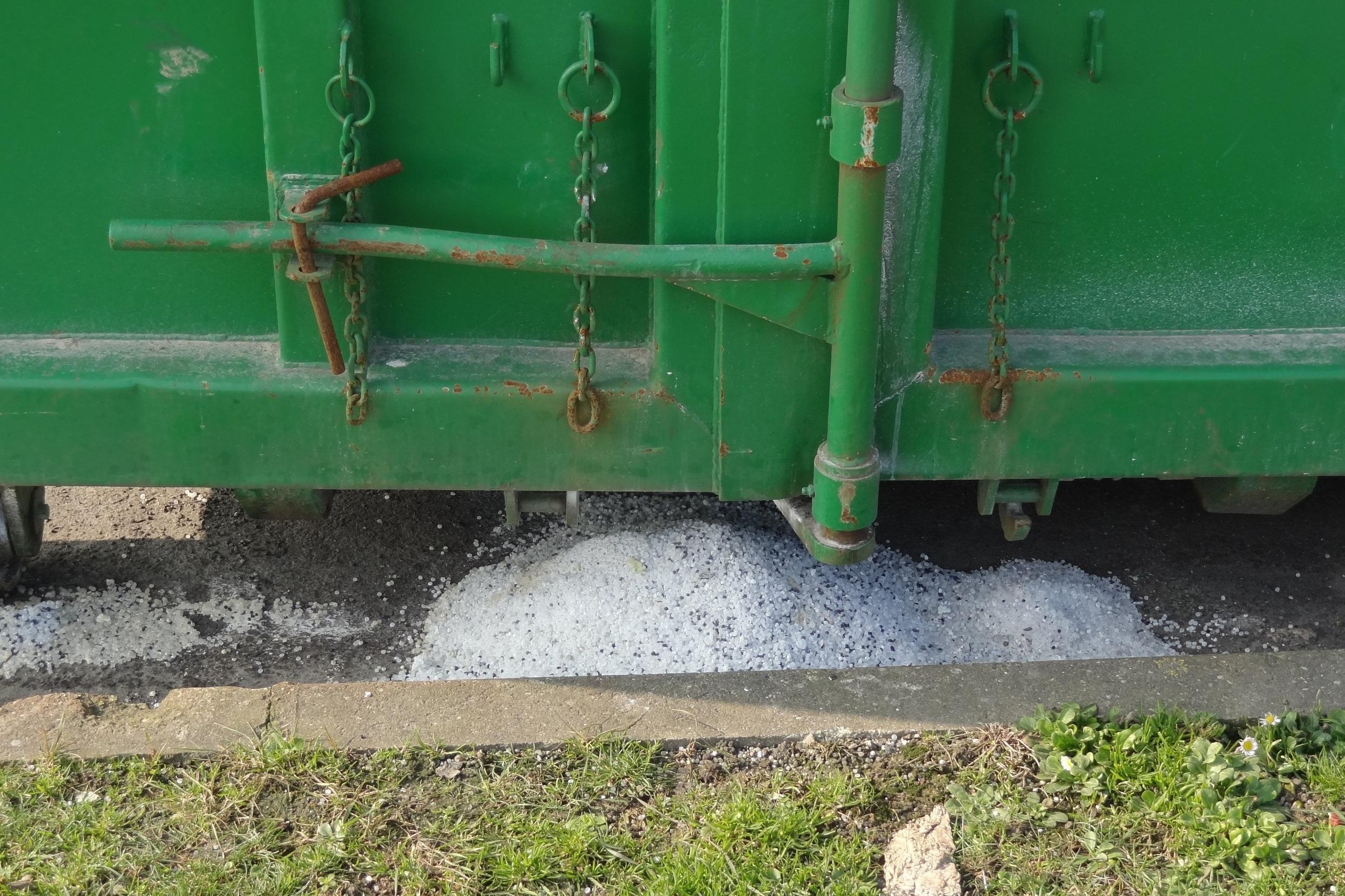 plastic pellet pollution -